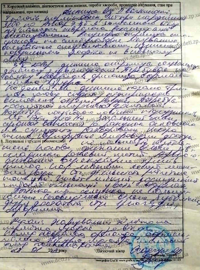 Выписка Виктория Чертвертак