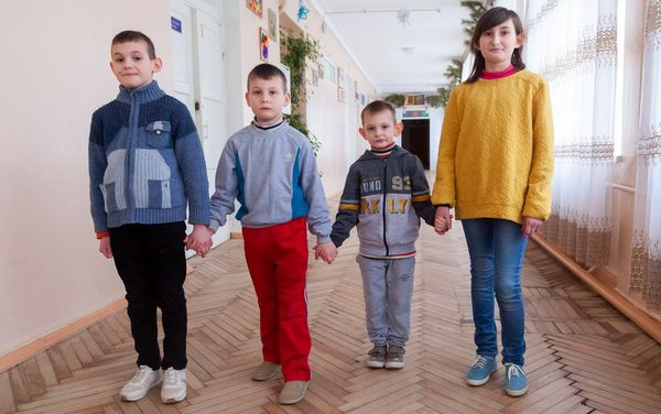 Children need a family: Alena (born in 2008), Ivan (born in 2011), Sergey (born in 2014) and Nazar (born in 2015)
