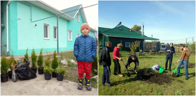 We plant a garden and a forest in the Child ecovillage for orphans