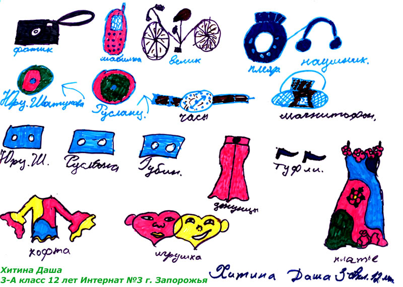 Ukrainian orphans art