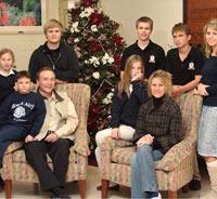 Blended families celebrate Christmas