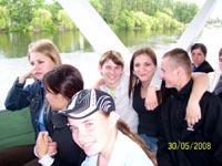 Экскурсия на катере вокруг о. Хортица для 220 воспитанников интернатов г. Запорожья (при финансовой помощи фонда