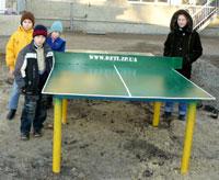 Ещё 4 металлических стола для настольного тенниса установлены в интернатах области