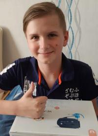 Artemiy Kazachuk – 10 years old, Cystic fibrosis – mixed form.