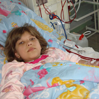Nika Badlo, born in 2000, - kidney failure