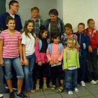 Ukrainian visitors get a warm welcome