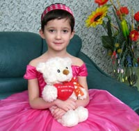 Dasha R., born in 2006 - congenital heart disease