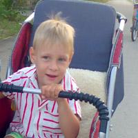 Mark Kovner, born in 2008 - Infantile cerebral paralysis