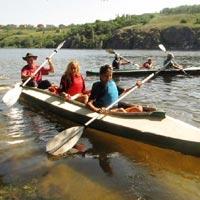 Kayaking and Hiking on the Island of Khortitsa