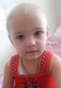 Aleksandra Soenko, 2 years old – Medulloblastoma (posterior fossa)