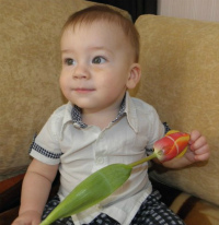Denis Taran – not even one year old, has Acute meningoencephalitis, cerebral edema