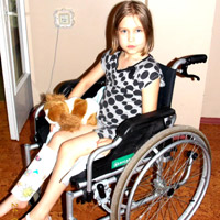 Elizaveta Tkacheva, born in 2005  - eosinophilic granuloma of the right tibia, stage III